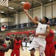 Men's basketball team plays event for soldiers