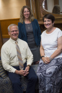 From left: Dr. David Roebuck, dean of Columbia College's School of Humanities, Arts, and Social Sciences; Dr. Sarah Vordtriede-Patton, dean of the School of Natural Sciences and Mathematics; and Dr. Shanda Traiser, dean of the School of Business Administration.