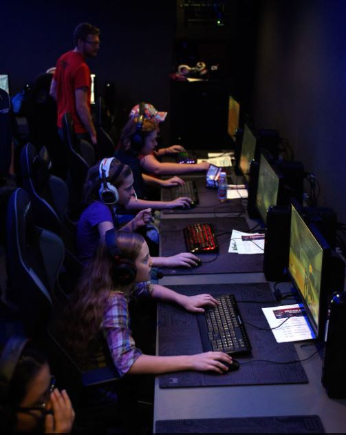 Middle school girls explore game design, eSports at 'Girls Who Game'