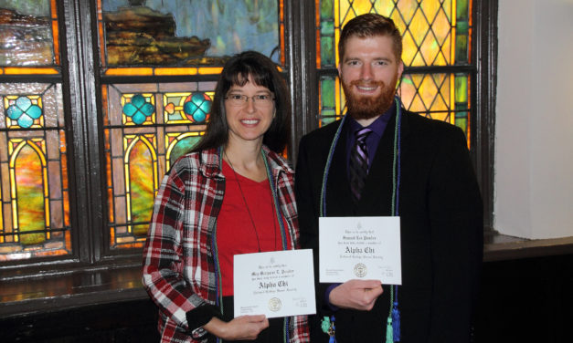 Mother and son inducted into national honor society