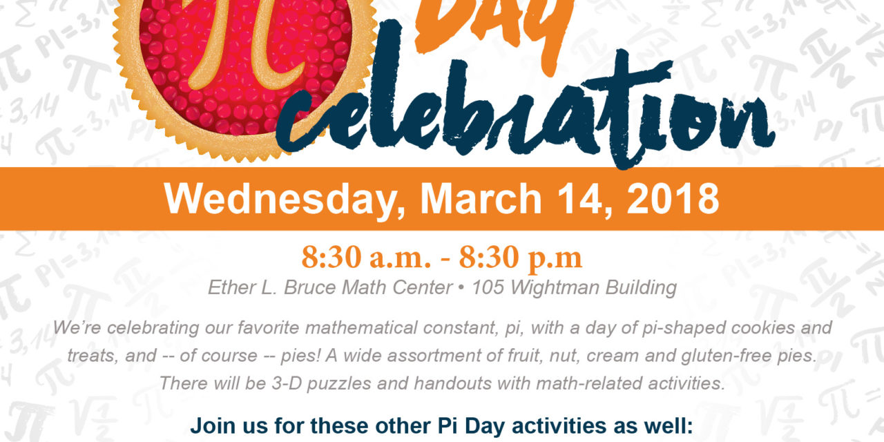 Columbia College hosting Pi Day festivities