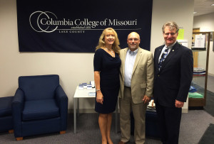 From left to right, Dr. Tina Dalrymple, President Scott Dalrymple and Lake County Campus Director Lyndon Russell.