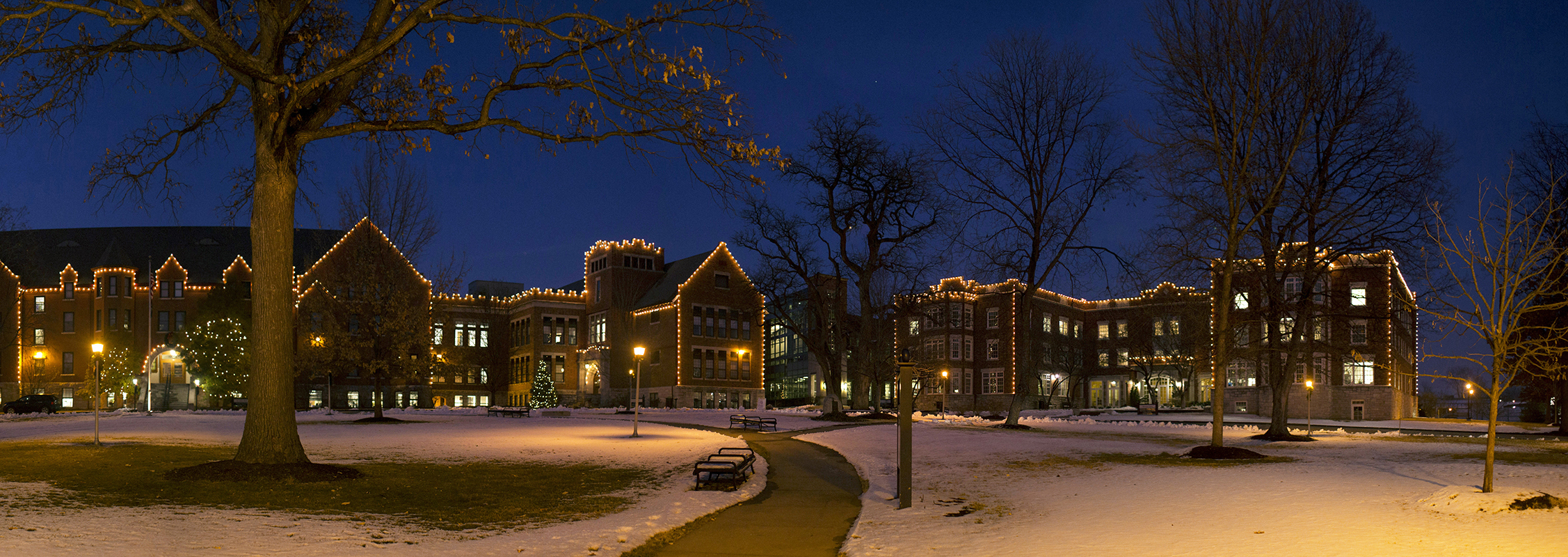 Columbia College lights a winter's night