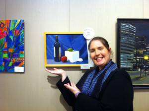 Elaine Nelson took third place in the nonprofessional painting category.