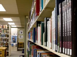 Stafford library shelf