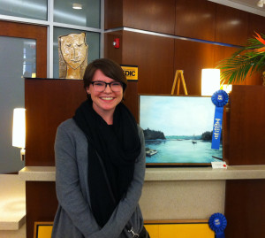 Katie Blake took first place in the nonprofessional painting category.