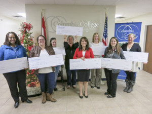 Eight Columbia College-Jefferson City students receive 2015-16 campus scholarships.