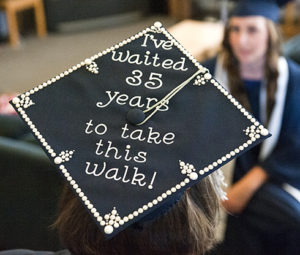 decorated mortarboard
