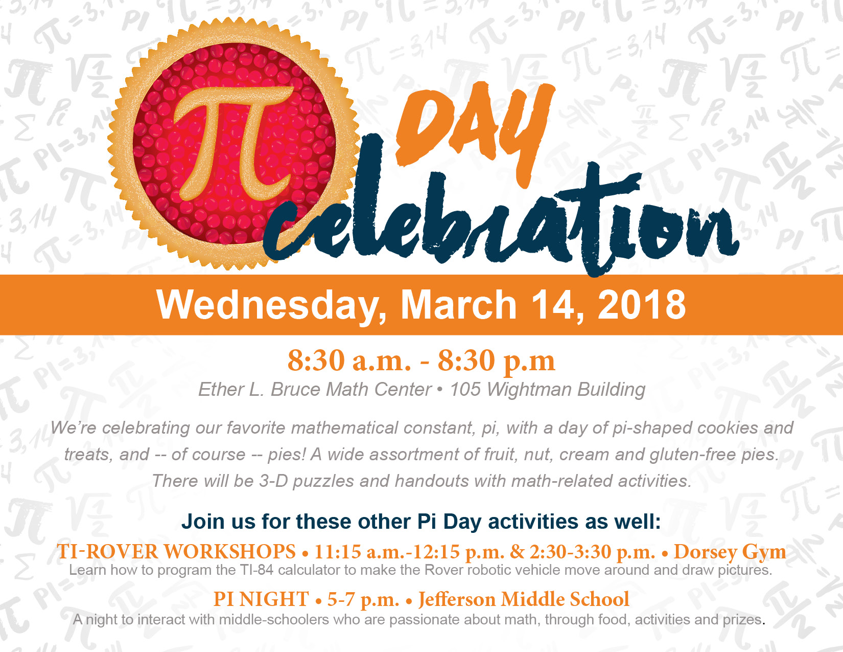 Columbia College hosting Pi Day festivities | CC Connected l Your ...