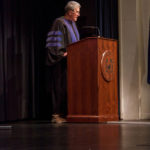 Dr. Terry Smith addresses graduates