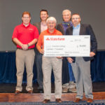 Representatives from State Farm were on hand to present a check for $18,000 from the State Farm Insurance Foundation.