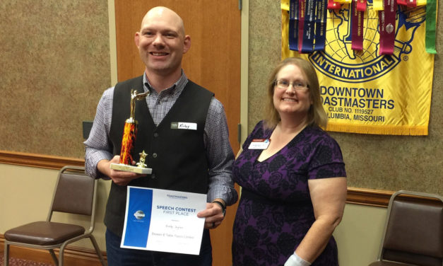 Alumnus finds success through Toastmasters