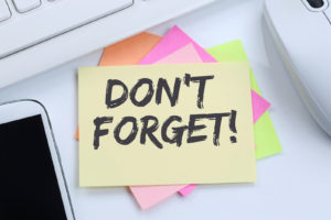 Don't forget remind reminder notepaper
