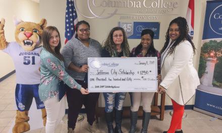 Columbia College-Jefferson City presents three scholarships