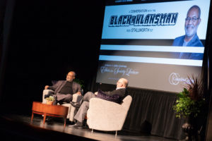 Ron Stallworth and Dr. Scott Dalrymple on stage