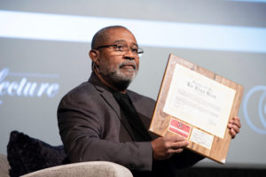 Ron Stallworth with his Ku Klux Klan membership plaque
