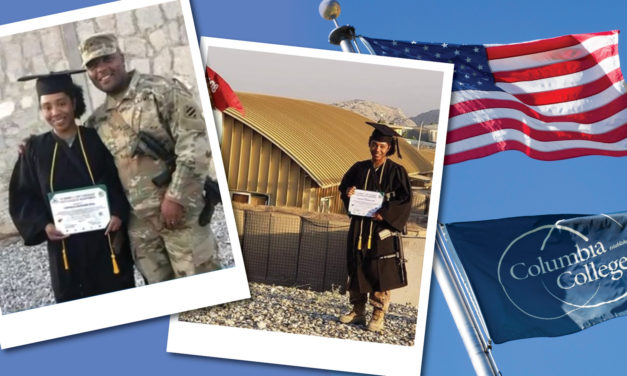 Savannah police officer Deal '19 celebrates graduation while in Afghanistan