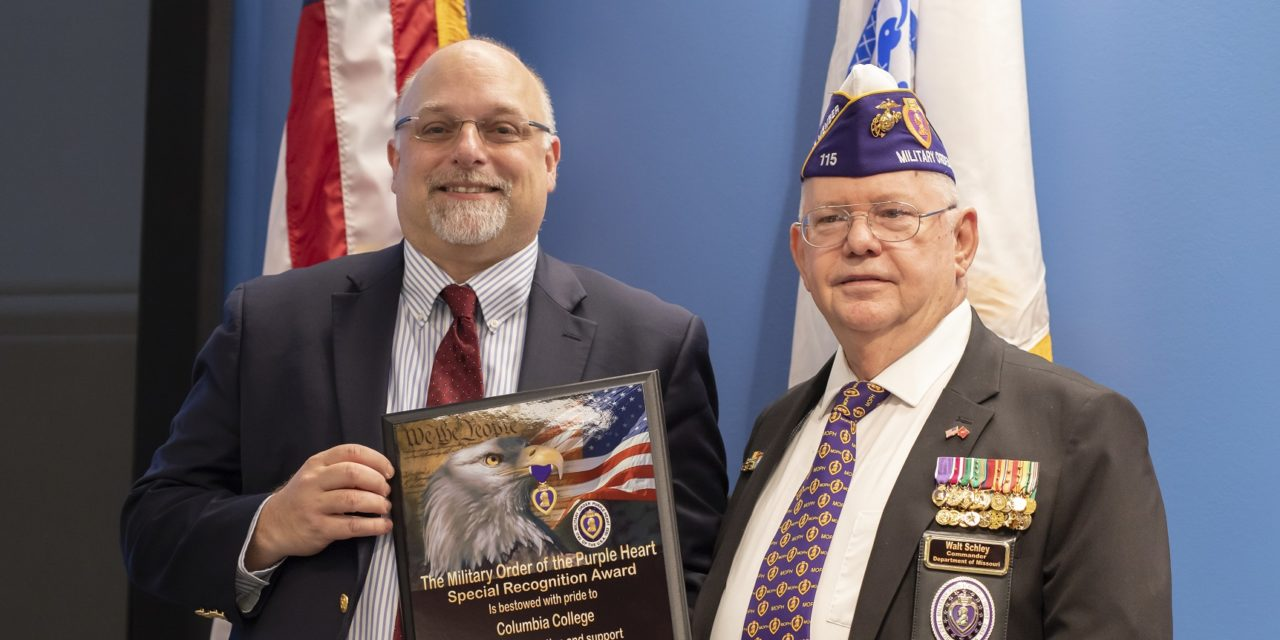 Purple Heart designation highlights college's Veterans Week ceremonies