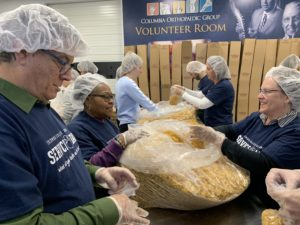 Volunteers at the Food Bank of Central and Northeast Missouri