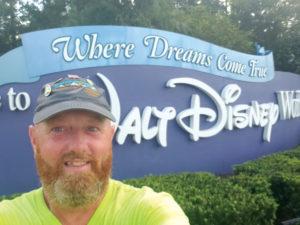 Jimmy Novak '18 in front of Disney World