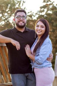 Katherine Maciel with her boyfriend, Jose