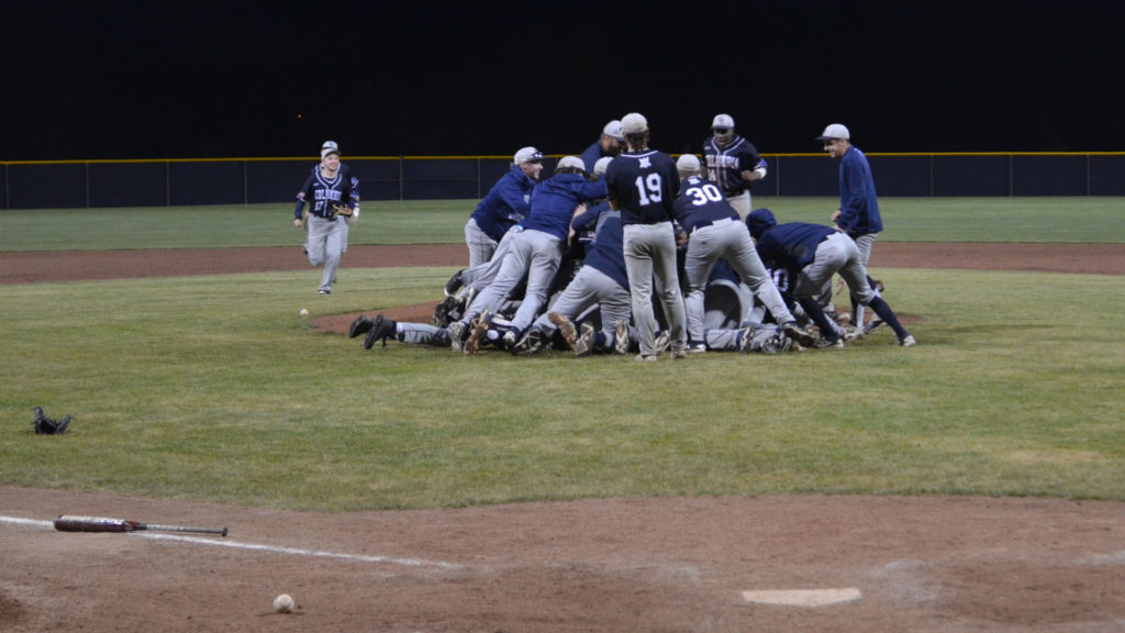 Baseball dogpile vs. Freed-Hardeman