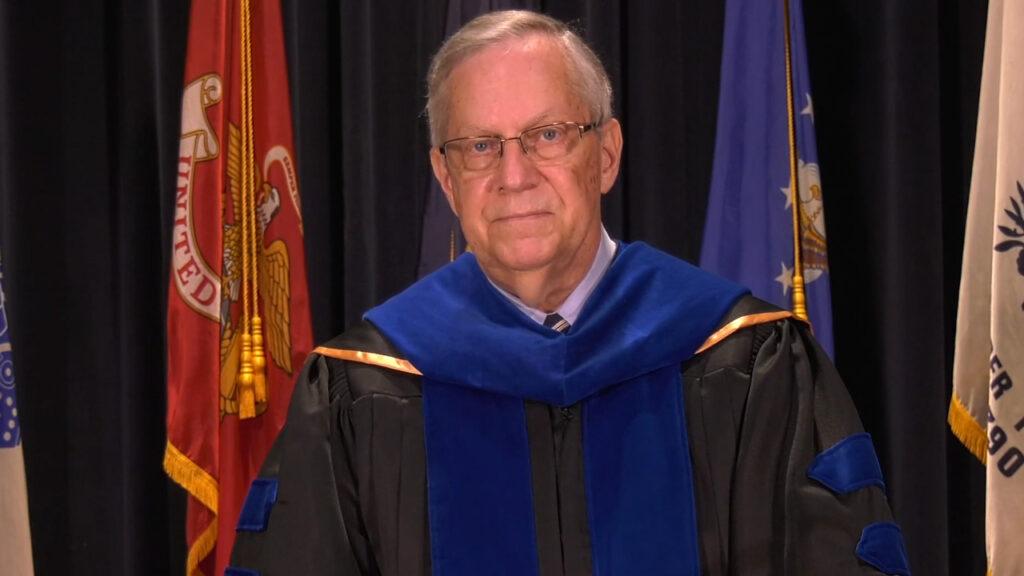 Dr. David Russell in regalia