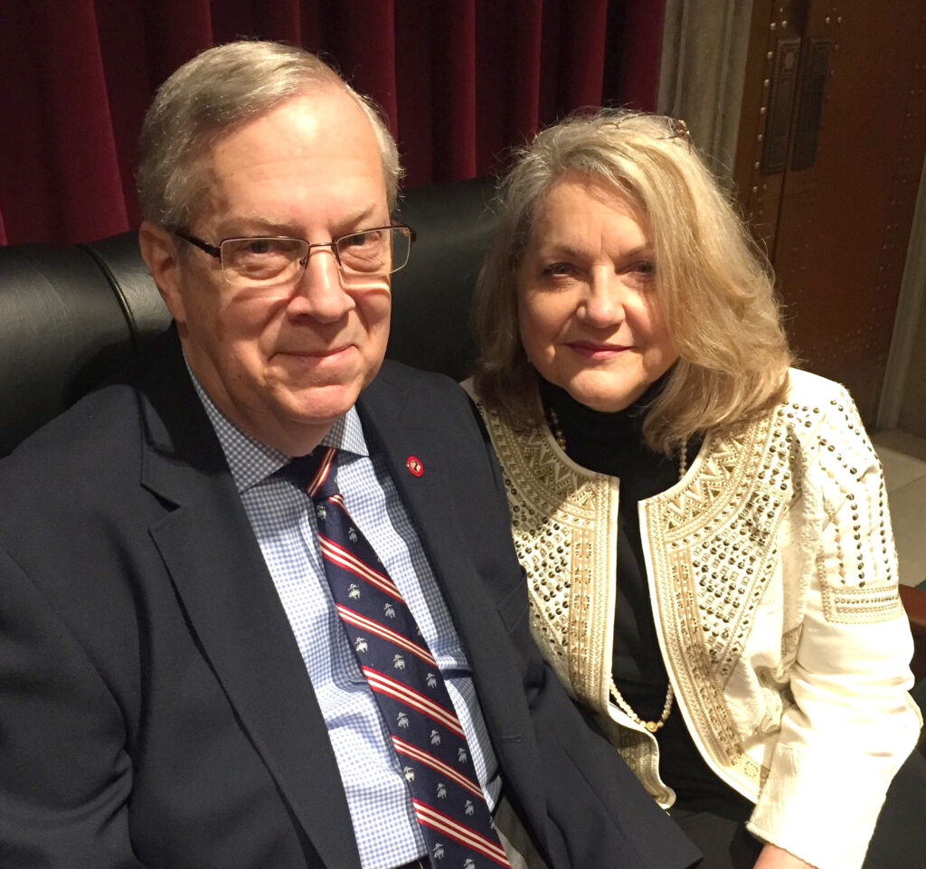 Dr. David Russell and his wife, Lee