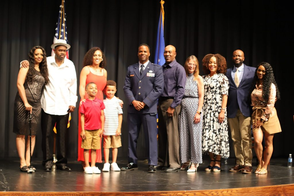 The family of C. Byron Wilson at his promotion ceremony at Columbia College