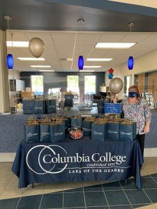 Information table at the first week of classes at Columbia College's Lake of the Ozarks location